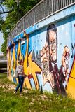 Graffiti-Komponist Richard Wagner Bayreuth Stockfotos