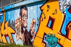 Graffiti-Komponist Richard Wagner Bayreuth Stockfotografie