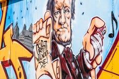 Graffiti-Komponist Richard Wagner Bayreuth Stockbilder