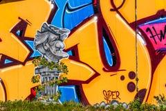 Graffiti-Komponist Richard Wagner Bayreuth Lizenzfreie Stockbilder
