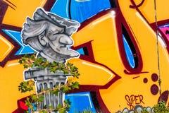 Graffiti-Komponist Richard Wagner Bayreuth Lizenzfreies Stockbild