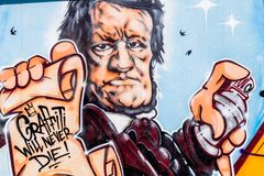 Graffiti-Komponist Richard Wagner Bayreuth Lizenzfreies Stockfoto