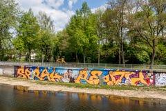 Graffiti-Komponist Richard Wagner Bayreuth Lizenzfreie Stockfotografie