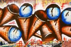 graffiti kremowy lód Zdjęcia Royalty Free