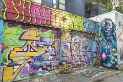 Graffiti-Kunst in San Francisco, Kalifornien Stockbilder