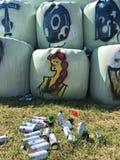 Graffiti of kunstwerk Royalty-vrije Stock Foto's