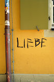 Graffiti allemand Photos libres de droits