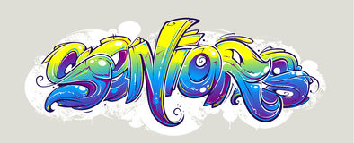 Graffiti lettering Stock Photo