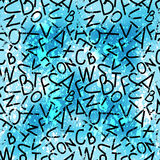 Graffiti, letters on a colored background Stock Photo