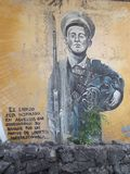 Graffiti in Lima regarding losses in the war. Against Ecuador in the past decades royalty free stock image