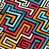Graffiti lines seamless pattern Royalty Free Stock Photos
