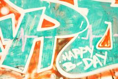 Graffiti listy Fotografia Royalty Free