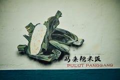 Graffiti lokalna delikatność przy w centrum Sibu obraz royalty free
