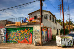 Graffiti Los Angeles est Image stock
