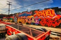 Graffiti Los Angeles orientale Fotografia Stock Libera da Diritti