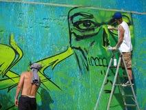 Graffiti, Lublin, Polen Royalty-vrije Stock Foto's