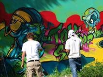 Graffiti, Lublin, Polen Stock Foto