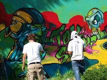 Graffiti, Lublin, Polen Stockfoto