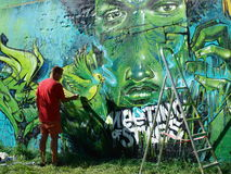 Graffiti, Lublin, Polen Stockfotos