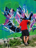 Graffiti, Lublin, Pologne Images stock