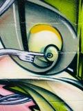 Graffiti lumineux peint sur le mur de briques illustration de vecteur
