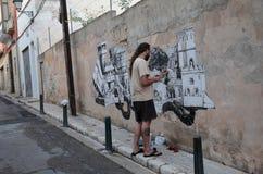 Graffiti malarz Zdjęcia Royalty Free