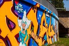 Graffiti Margravine Wilhemine von Bayreuth Stockfotografie