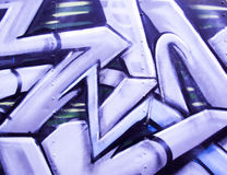 Graffiti on metal Royalty Free Stock Photo