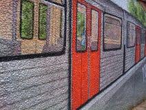 Graffiti, Metro, Wagon, Railway Stock Images