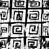 Graffiti monochrome abstract pattern on a white background Stock Image