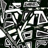 Graffiti monochrome geometrical objects vector illustration. (vector eps 10 Royalty Free Stock Photography