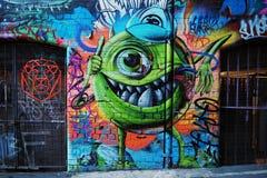 Graffiti - Monster Inc Mike Wazowski Stock Photos