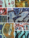 Graffiti Montage. A collection of graffiti images Royalty Free Stock Photos