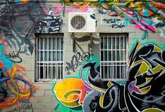 Graffiti in Montreal Royalty Free Stock Photo