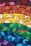 Graffiti Montreal dell'arcobaleno Fotografia Stock