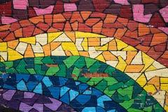 Graffiti Montreal dell'arcobaleno Immagine Stock Libera da Diritti