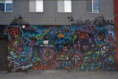 Graffiti Mural Street Art stock photo