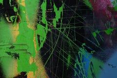 Graffiti na ścianie - szczegół graffiti malował na ścianie Obrazy Royalty Free