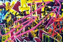 Graffiti na ścianie w jeździć na łyżwach parka Obraz Stock