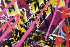 Graffiti na ścianie w jeździć na łyżwach parka Obrazy Royalty Free