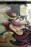 Graffiti na boardedup sklepie w podsumowanie zakupy arkady St George `` Chodzą w Croydon zdjęcie royalty free