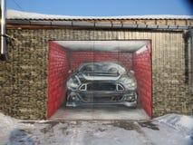 Graffiti na garażu drzwiowego ` samochodowy ` zdjęcia stock