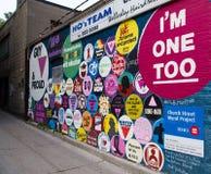 Graffiti na Izolują w dół Wellesley ulicę fotografia royalty free
