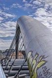 Graffiti na przerzucają most łuk Obrazy Royalty Free