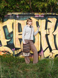 Graffiti in nature Stock Image