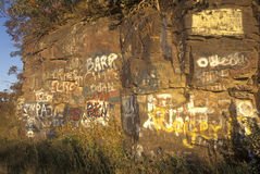 Graffiti on nature, WV Royalty Free Stock Images