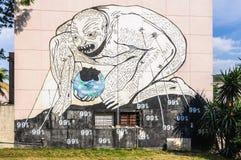Graffiti near the university in Havana, Cuba Stock Photography