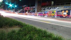 Graffiti nel moto fotografia stock