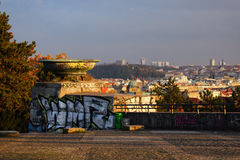 Graffiti nel parco di Letna, Praga Immagini Stock