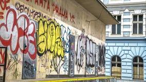 Graffiti nella città Fotografie Stock